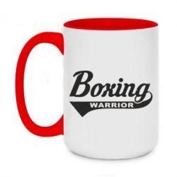 Кружка двоколірна 420ml Boxing Warrior