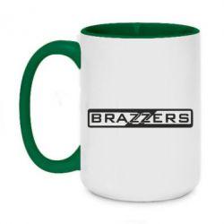 Кружка двухцветная 420ml Brazzers Logo