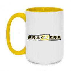 Кружка двоколірна 420ml Brazzers new