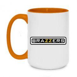 Кружка двоколірна 420ml Brazzers