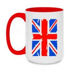 Кружка двухцветная 420ml Британский флаг