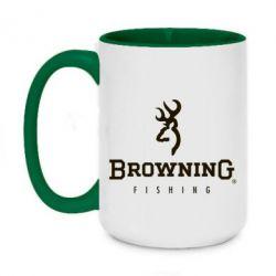 Кружка двухцветная 420ml Browning - FatLine