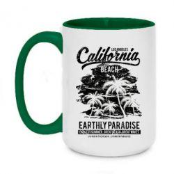 Кружка двоколірна 420ml California Beach