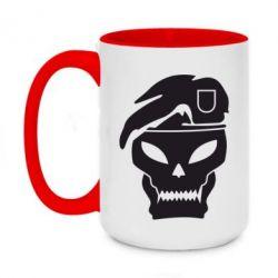Кружка двухцветная 420ml Call of Duty Black Ops logo