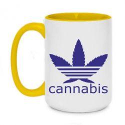 Кружка двоколірна 420ml Cannabis