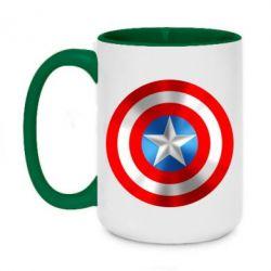 Кружка двухцветная 420ml Captain America 3D Shield