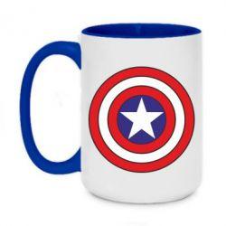 Кружка двоколірна 420ml Captain America
