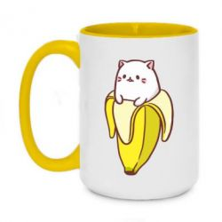 Кружка двухцветная 420ml Cat and Banana