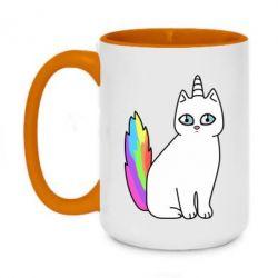 Кружка двухцветная 420ml Cat Unicorn