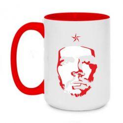 Кружка двоколірна 420ml Che Guevara face