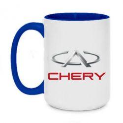 Кружка двухцветная 420ml Chery Logo - FatLine