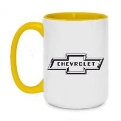 Кружка двоколірна 420ml Chevrolet 3D