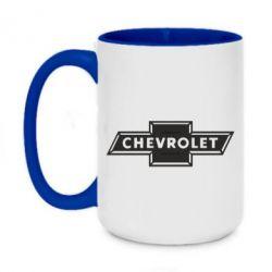 Кружка двоколірна 420ml Chevrolet Logo Small