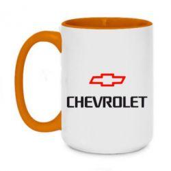 Кружка двухцветная 420ml CHEVROLET