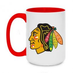 Кружка двухцветная 420ml Chicago Black Hawks - FatLine