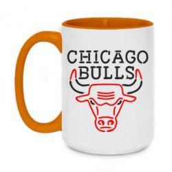 Кружка двоколірна 420ml Chicago Bulls Logo