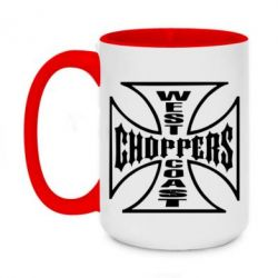 Кружка двоколірна 420ml Choppers