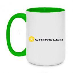 Кружка двоколірна 420ml Chrysler Logo