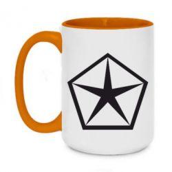 Кружка двухцветная 420ml Chrysler Star