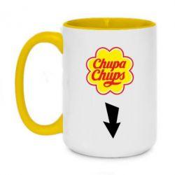 Кружка двухцветная 420ml Chupa Chups