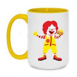Кружка двоколірна 420ml Clown McDonald's