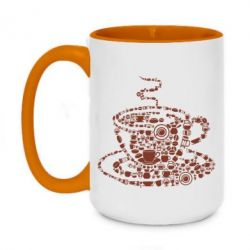 Кружка двоколірна 420ml Coffee from the cups