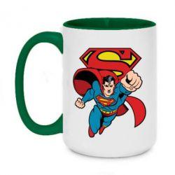 Кружка двоколірна 420ml Comics Superman