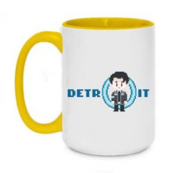 Кружка двоколірна 420ml Connor from the game Detroit: Become a Man