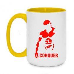 Кружка двухцветная 420ml Conquer - FatLine