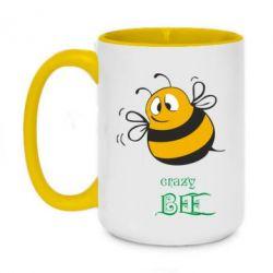 Кружка двоколірна 420ml Crazy Bee