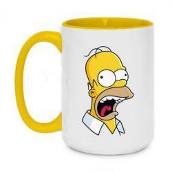 Кружка двухцветная 420ml Crazy Homer! - FatLine