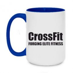 Кружка двоколірна 420ml Crossfit Forging Elite Fitness