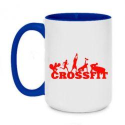 Кружка двоколірна 420ml Crossfit