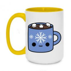 Кружка двухцветная 420ml Cup with a winter drink