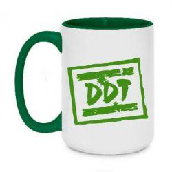 Кружка двухцветная 420ml DDT (ДДТ) - FatLine