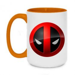 Кружка двухцветная 420ml Deadpool Logo