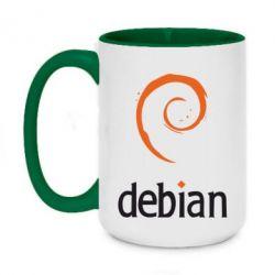 Кружка двухцветная 420ml Debian