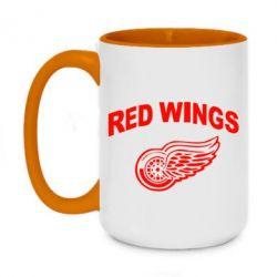 Кружка двухцветная 420ml Detroit Red Wings