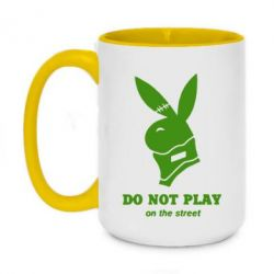 Кружка двоколірна 420ml Do not play on the street (Playboy)