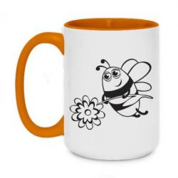Кружка двухцветная 420ml Добрая пчелка