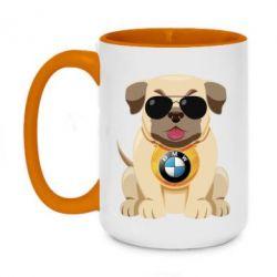 Кружка двоколірна 420ml Dog with a collar BMW