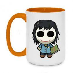 Кружка двоколірна 420ml Doll with a book