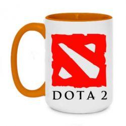 Кружка двухцветная 420ml Dota 2 Big Logo