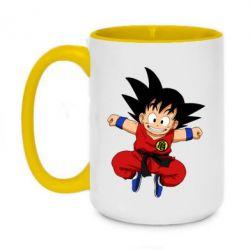 Кружка двоколірна 420ml Dragon ball Son Goku