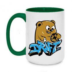 Кружка двухцветная 420ml Drift Bear