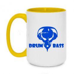 Кружка двоколірна 420ml Drumm Bass