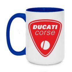 Кружка двухцветная 420ml Ducati Corse