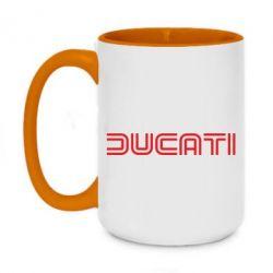 Кружка двухцветная 420ml Ducati Vintage