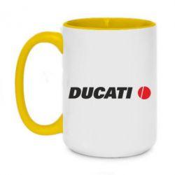 Кружка двоколірна 420ml Ducati