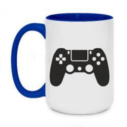 Кружка двоколірна 420ml Джойстик PS4